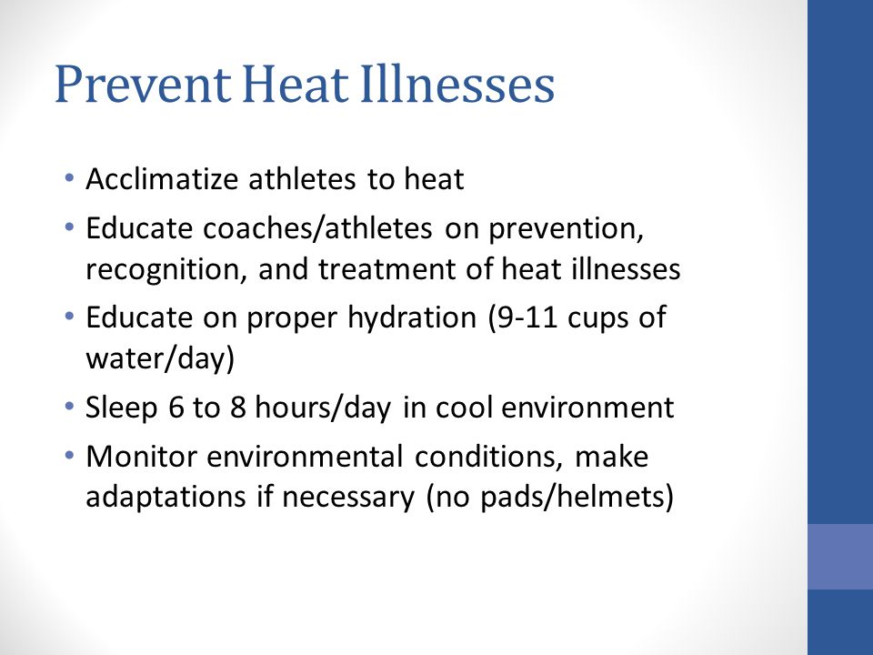 Prevent Heat Illnesses