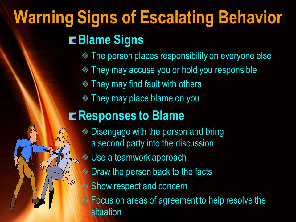 Warning Signs of Escalating Behavior