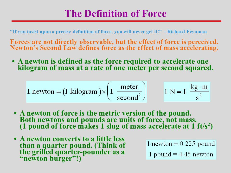 The Definition of Force