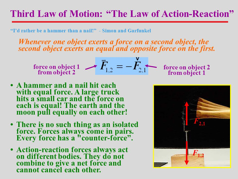 Third Law of Motion: The Law of Action-Reaction