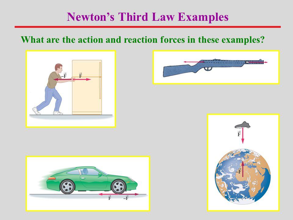 Newton's Third Law Examples