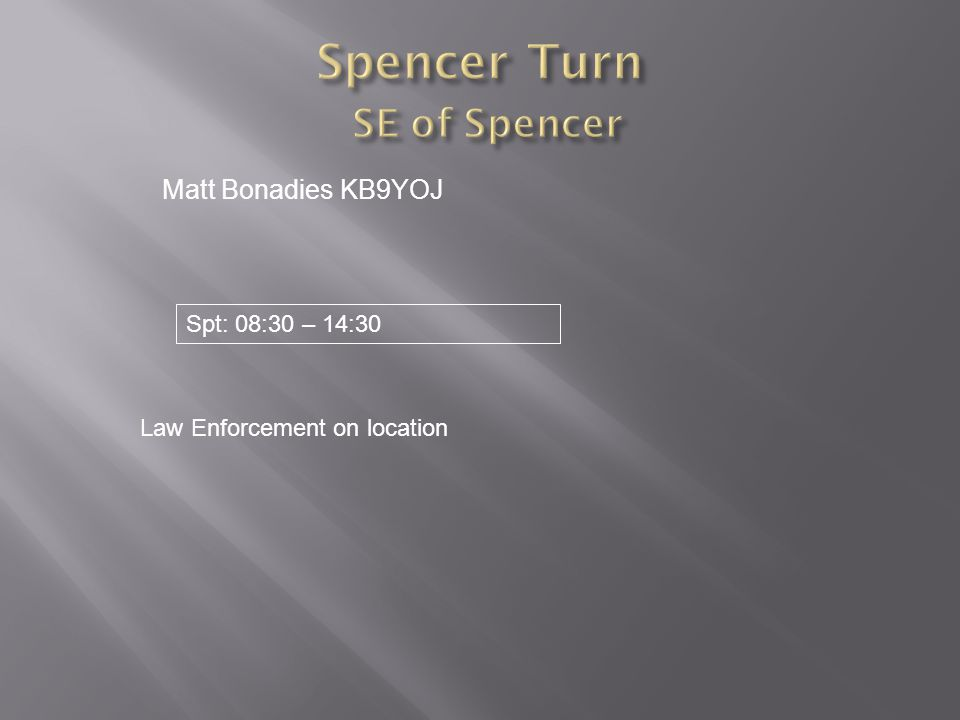 Spencer Turn SE of Spencer