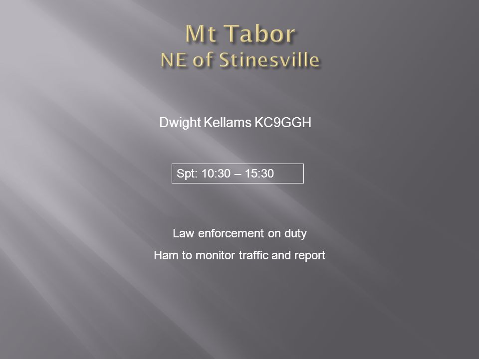 Mt Tabor NE of Stinesville