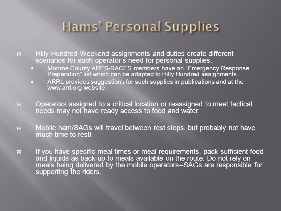 Hams' Personal Supplies