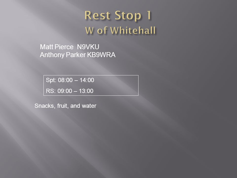 Rest Stop 1 W of Whitehall