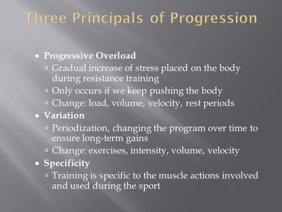 Three Principals of Progression