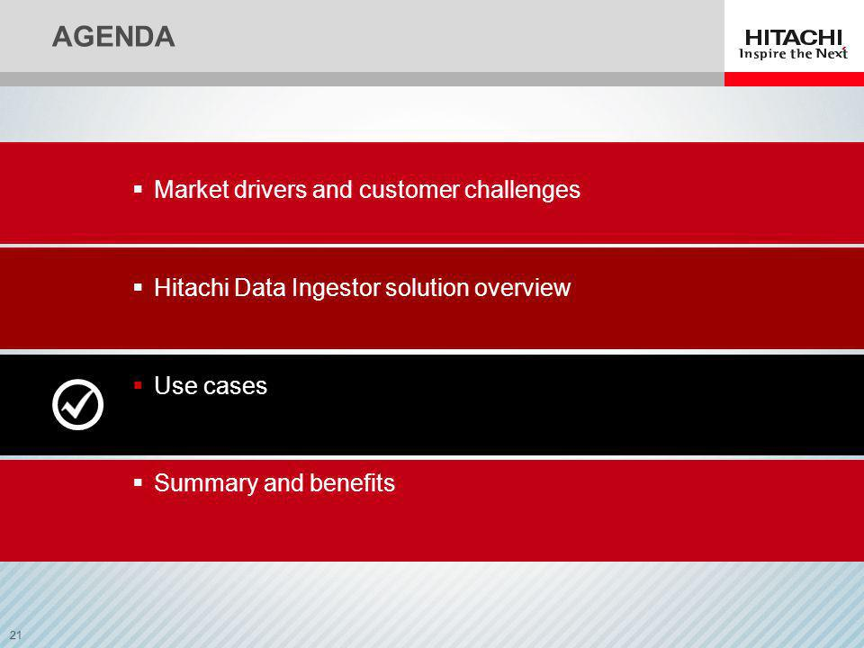 AGENDA Market drivers and customer challenges