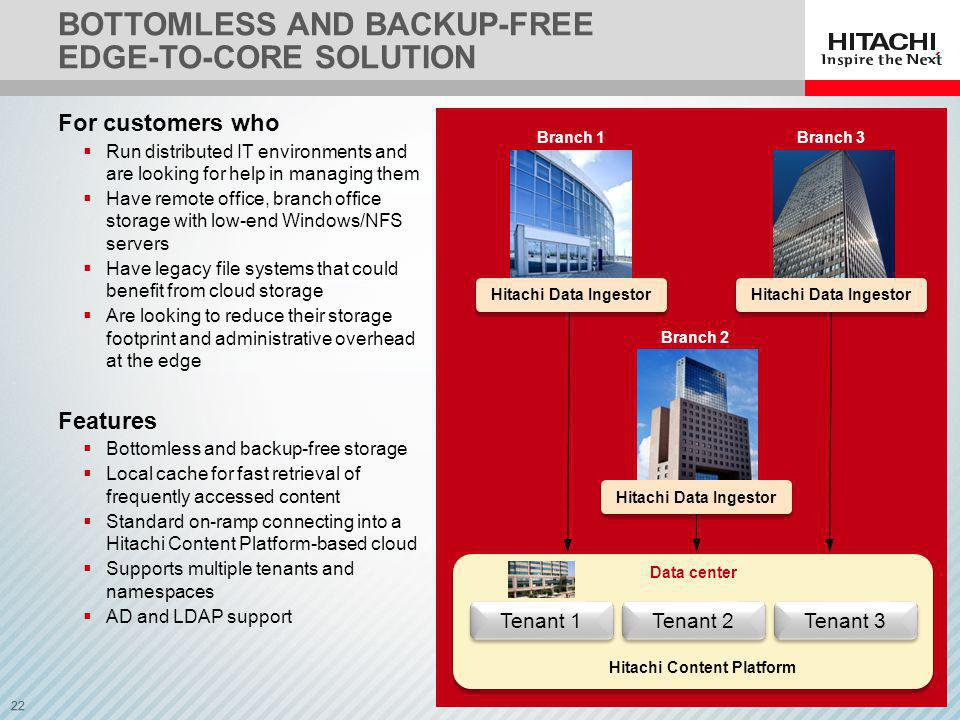 Bottomless and backup-free Edge-to-core solution