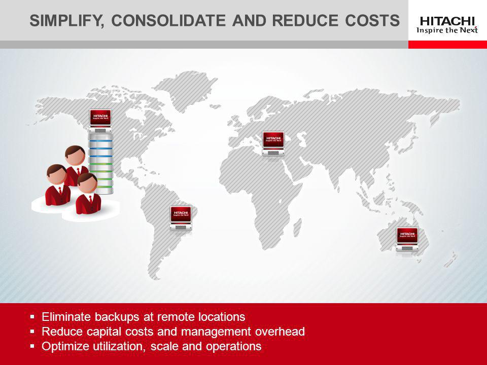 Simplify, Consolidate and Reduce Costs