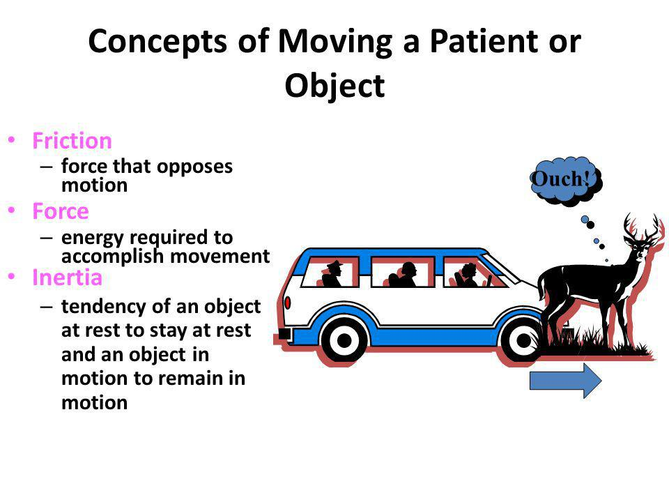 Concepts of Moving a Patient or Object