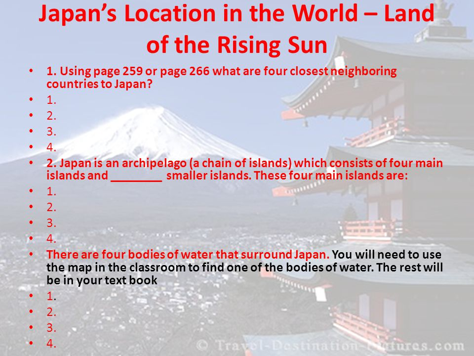 Ch Shaping A Unique Worldview Japanese Geography Ppt Download - Japan map four main islands