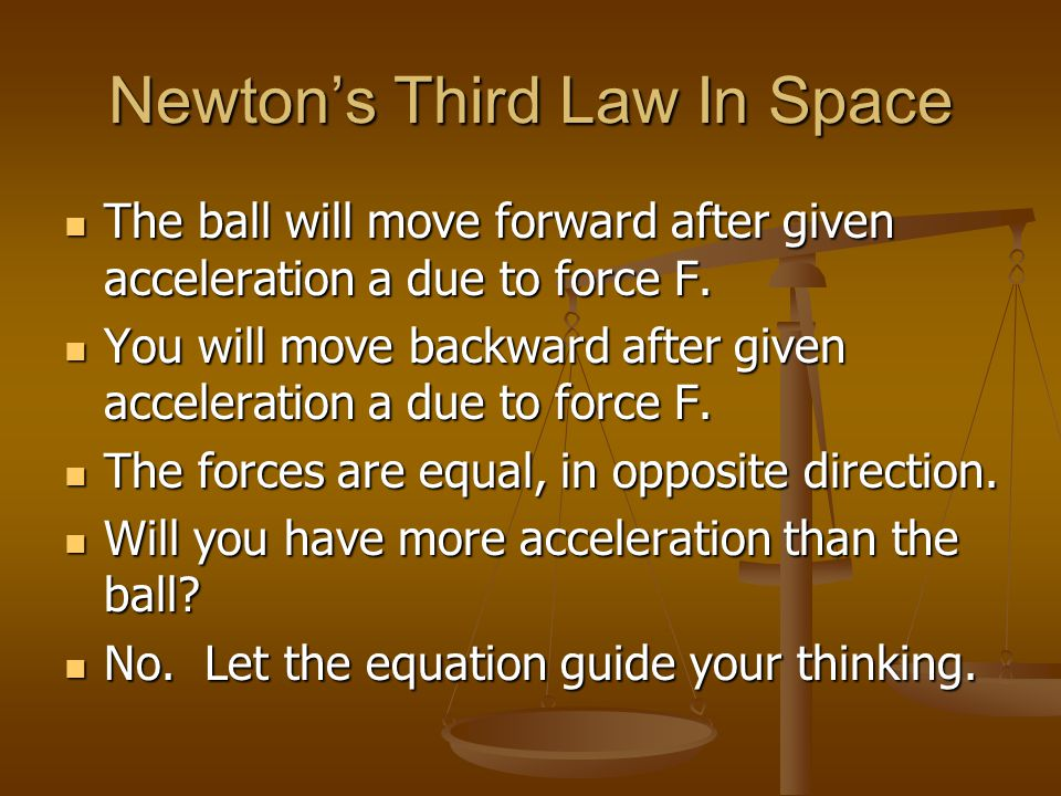 Newton's Third Law In Space