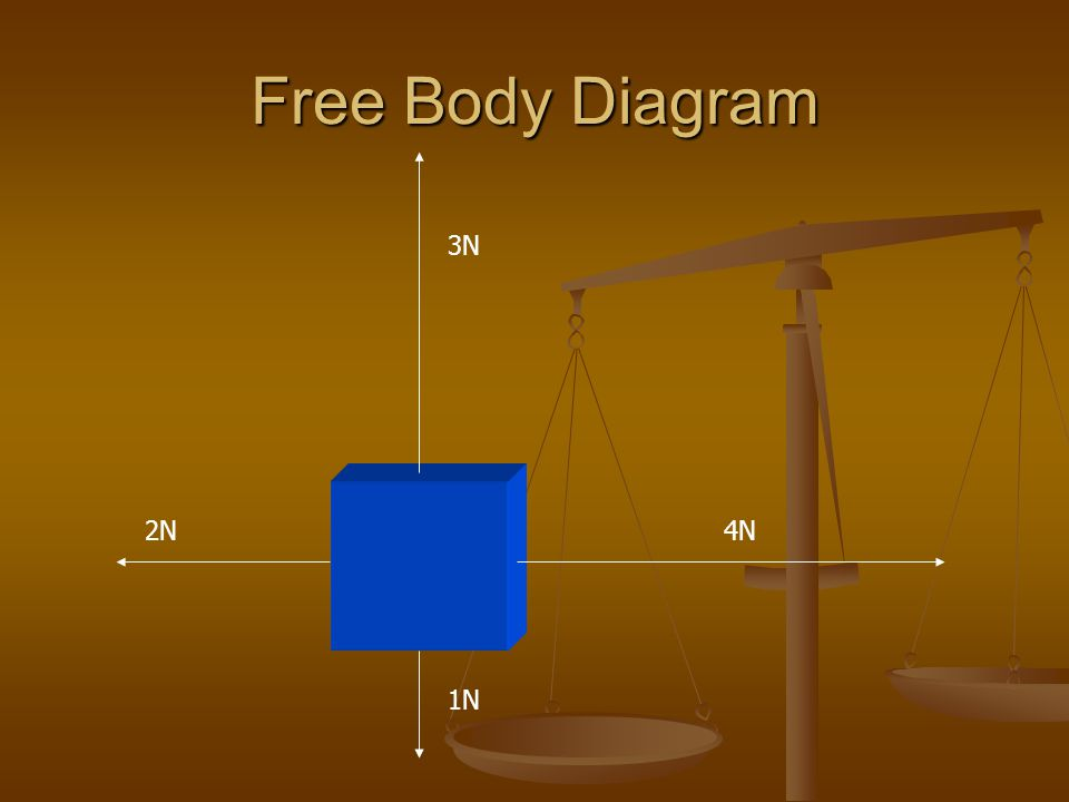 Free Body Diagram 3N 2N 4N 1N