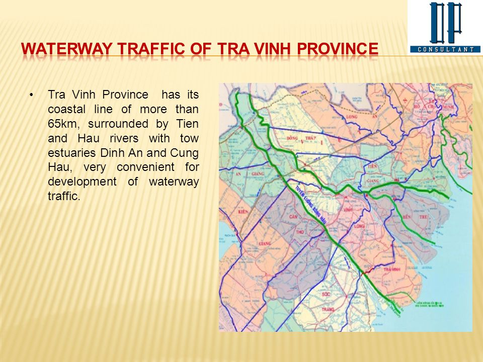 Waterway traffic of Tra Vinh Province