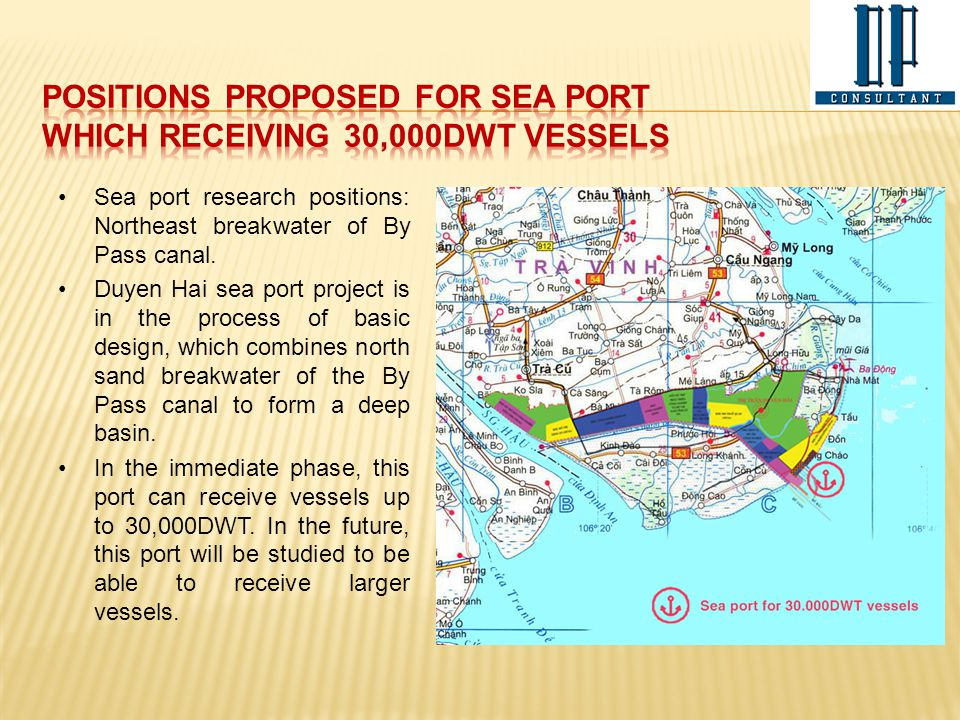 positions proposed for sea PORT Which receiving 30,000DwT vessels