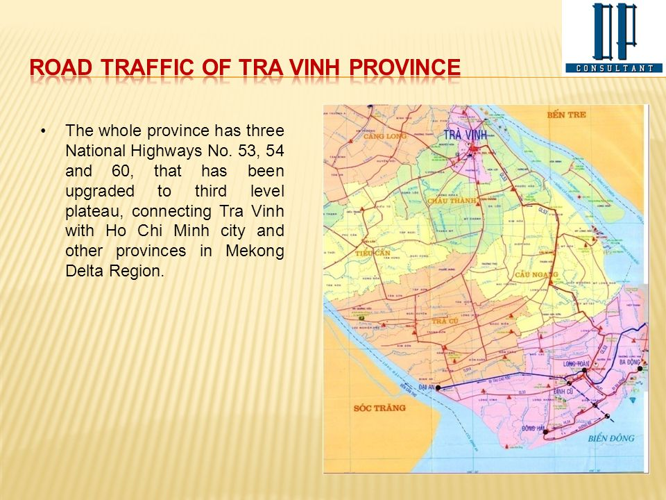 Road traffic of Tra Vinh Province