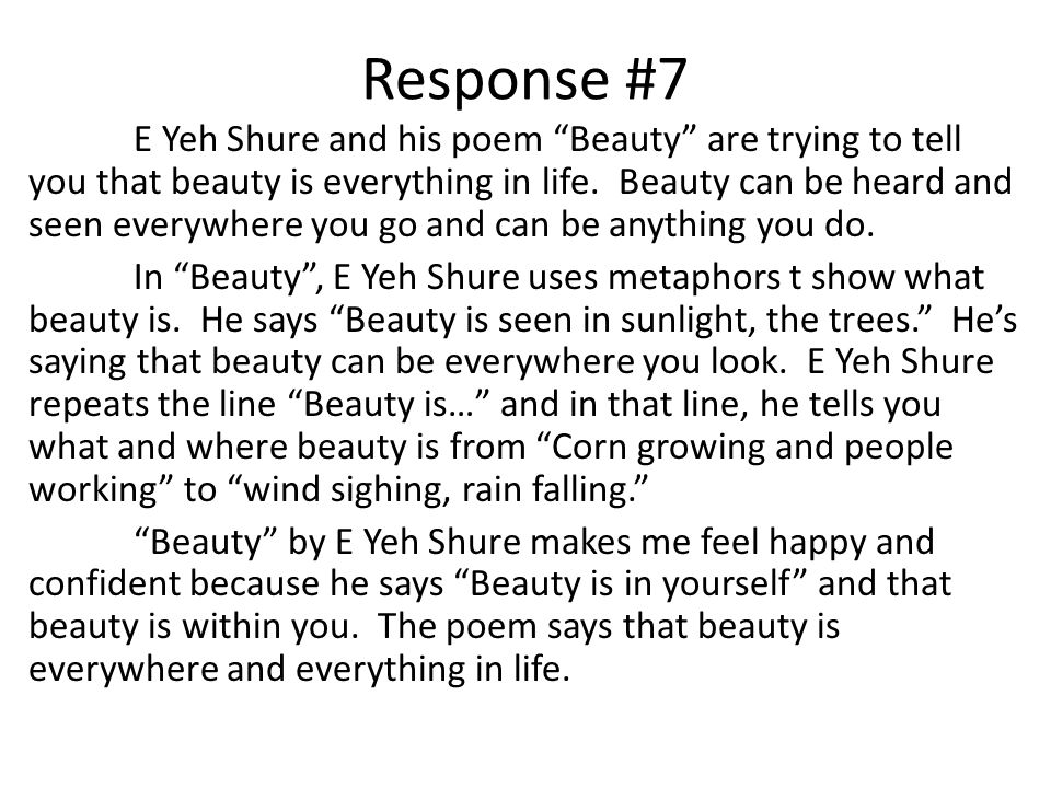 Response #7