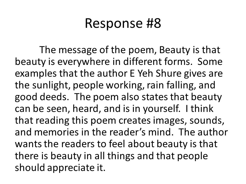 Response #8