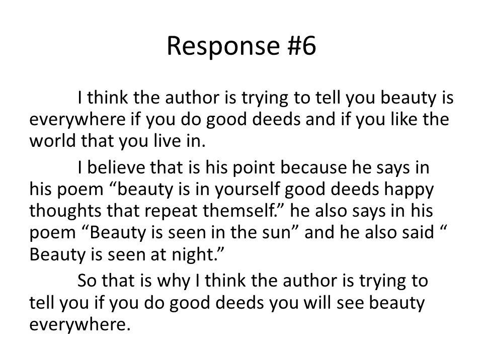 Response #6