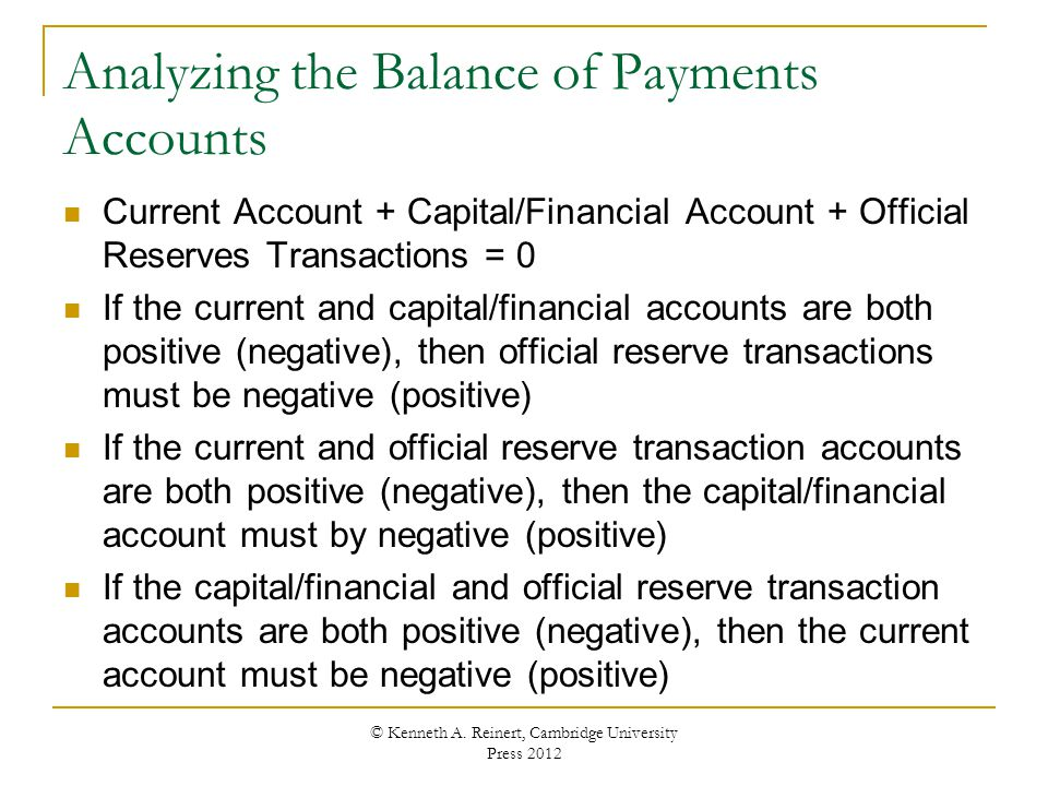 Analyzing the Balance of Payments Accounts
