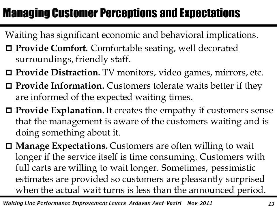 Managing Customer Perceptions and Expectations