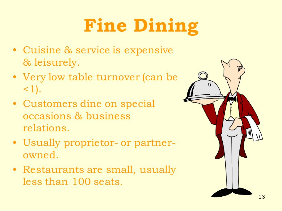 Chapter 2 Kinds Characteristics Of Restaurants Their