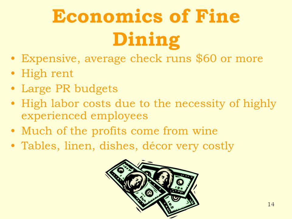 Economics of Fine Dining