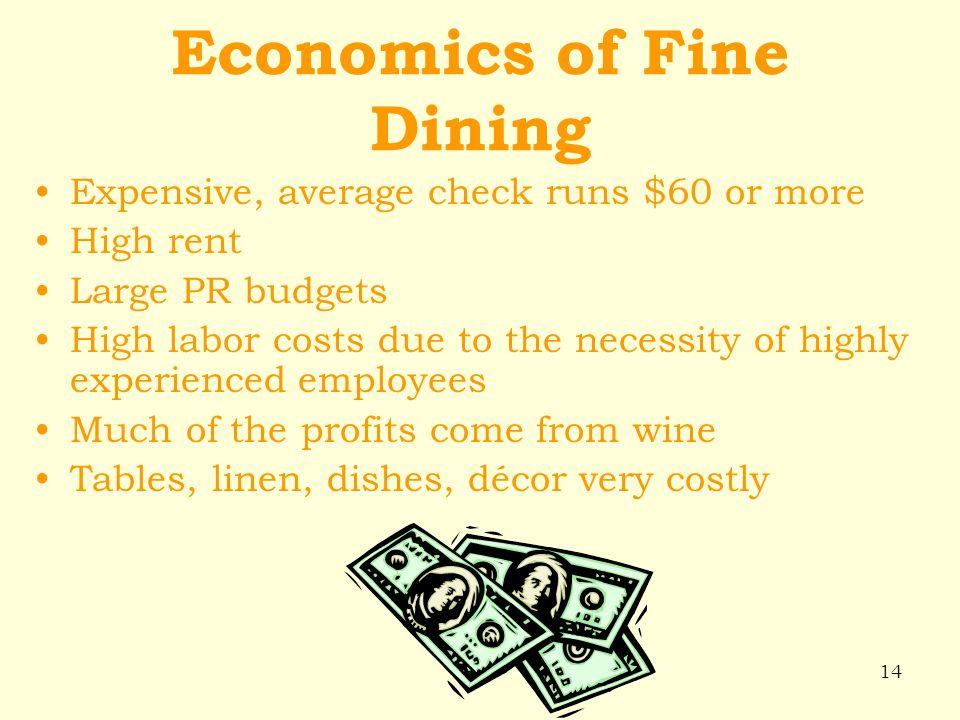 Economics of Fine Dining