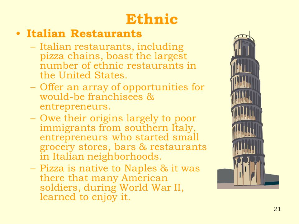 Ethnic Italian Restaurants