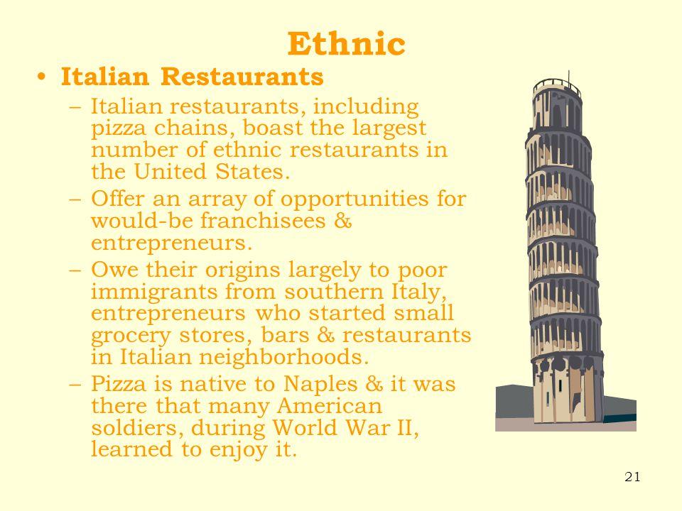 Ethnic Italian Restaurants