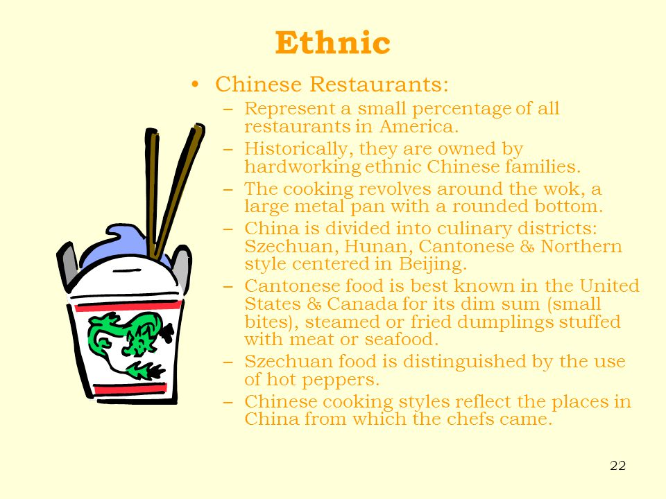 Ethnic Chinese Restaurants: