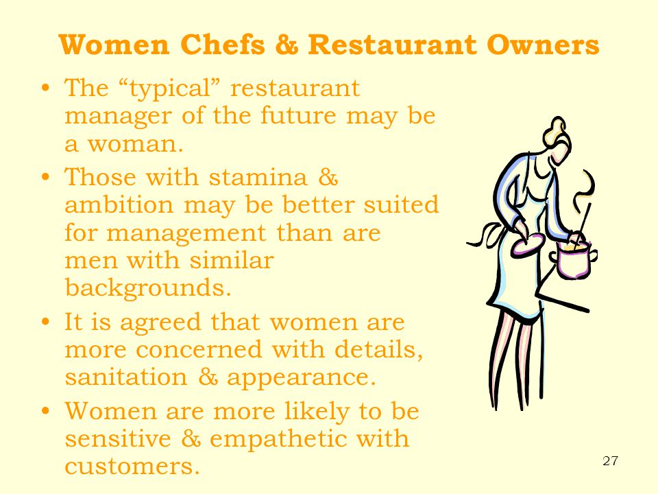 Women Chefs & Restaurant Owners