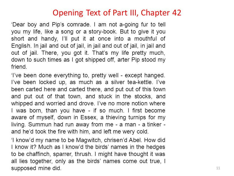 Opening Text of Part III, Chapter 42