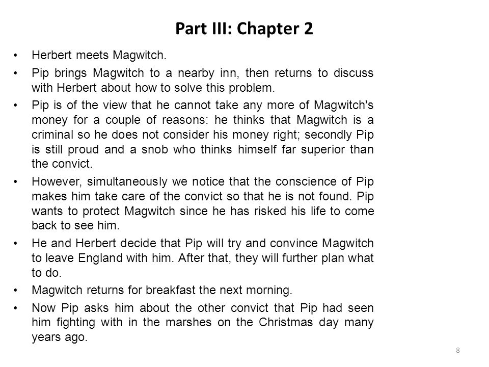 Part III: Chapter 2 Herbert meets Magwitch.