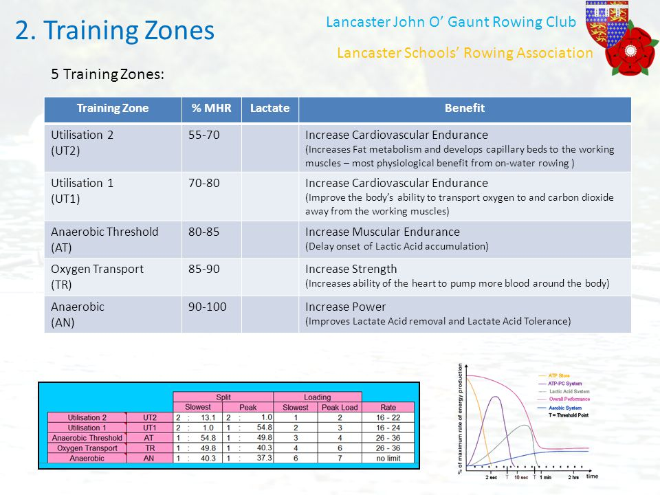 Training Zones 2. Training Zones Lancaster John O' Gaunt Rowing Club