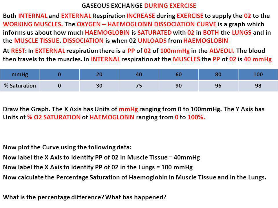 GASEOUS EXCHANGE DURING EXERCISE