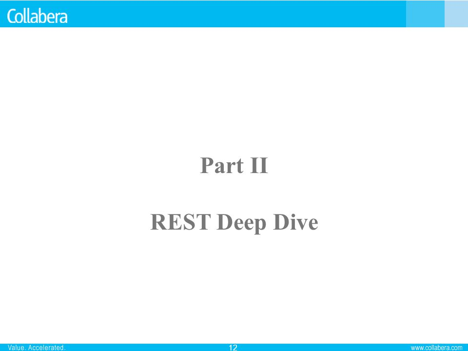 Part II REST Deep Dive