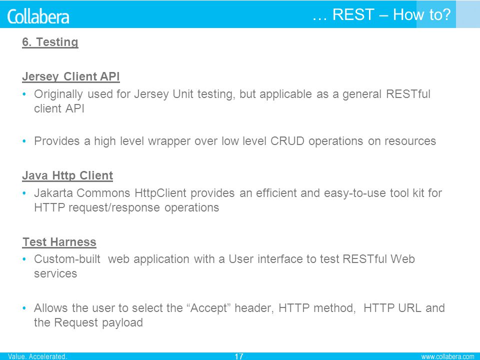 … REST – How to 6. Testing Jersey Client API