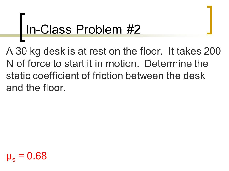 In-Class Problem #2