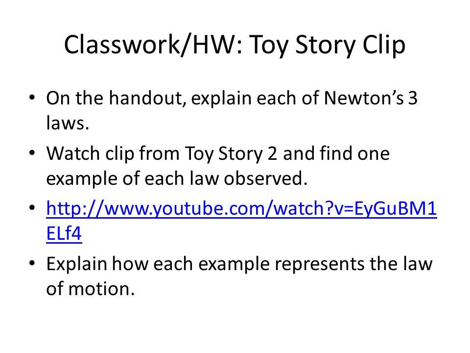 Classwork/HW: Toy Story Clip