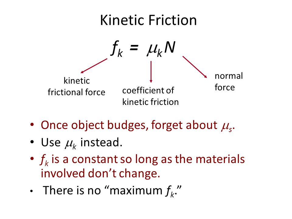 kinetic frictional force