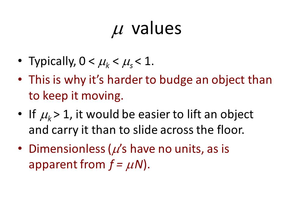  values Typically, 0 < k < s < 1.