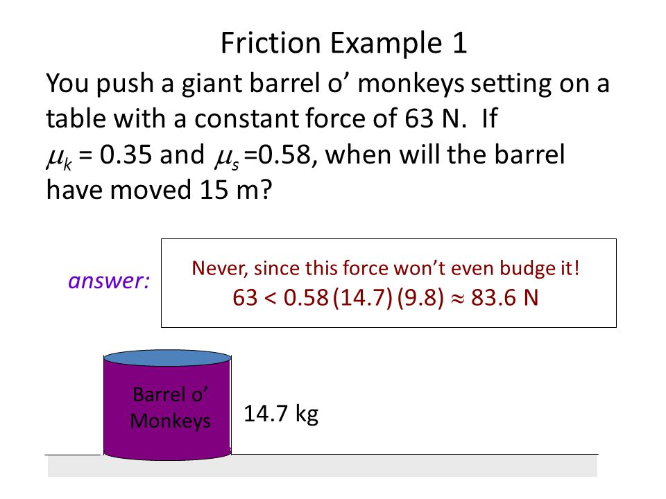 Friction Example 1