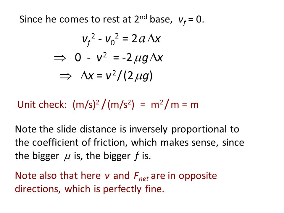 Friction as the net force (last)