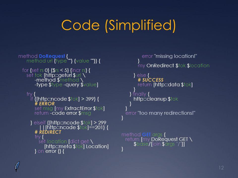 Code (Simplified)