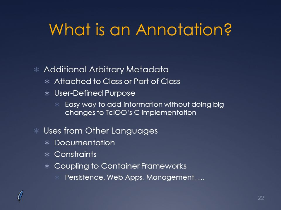 What is an Annotation Additional Arbitrary Metadata