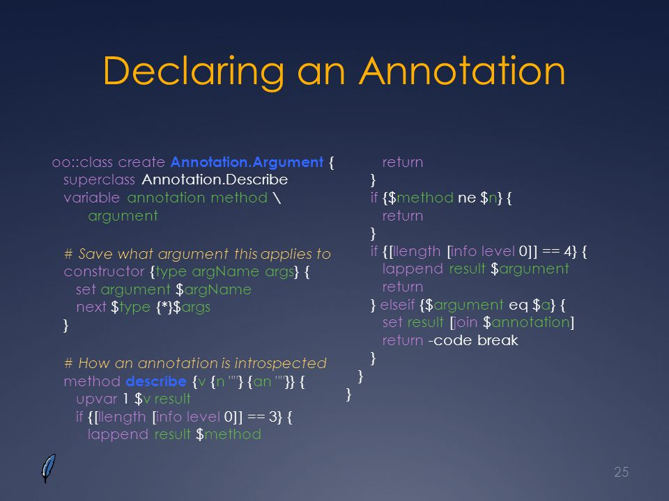 Declaring an Annotation