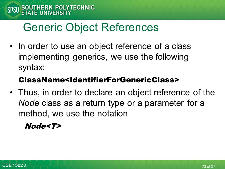 Generic Object References