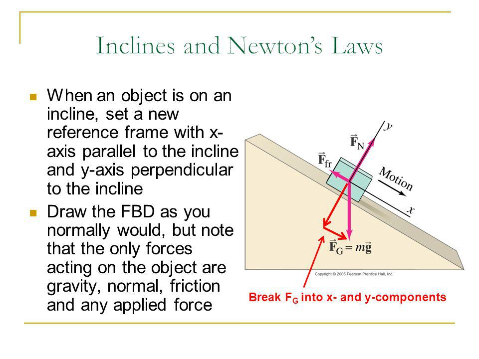 Inclines and Newton's Laws