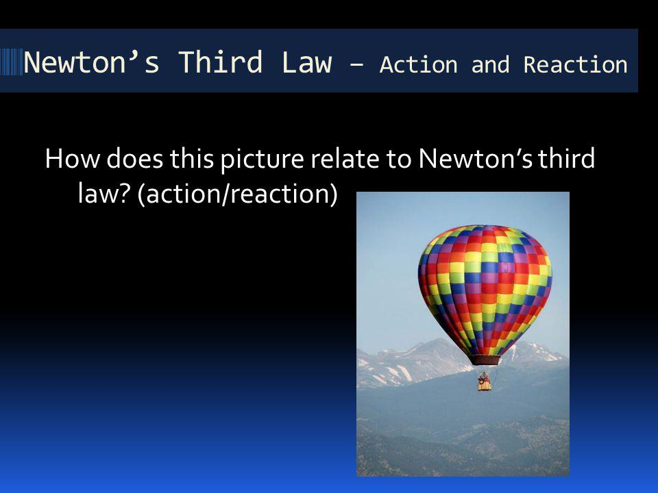 Newton's Third Law – Action and Reaction